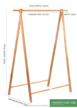 simple bamboo clothes rack&shelf