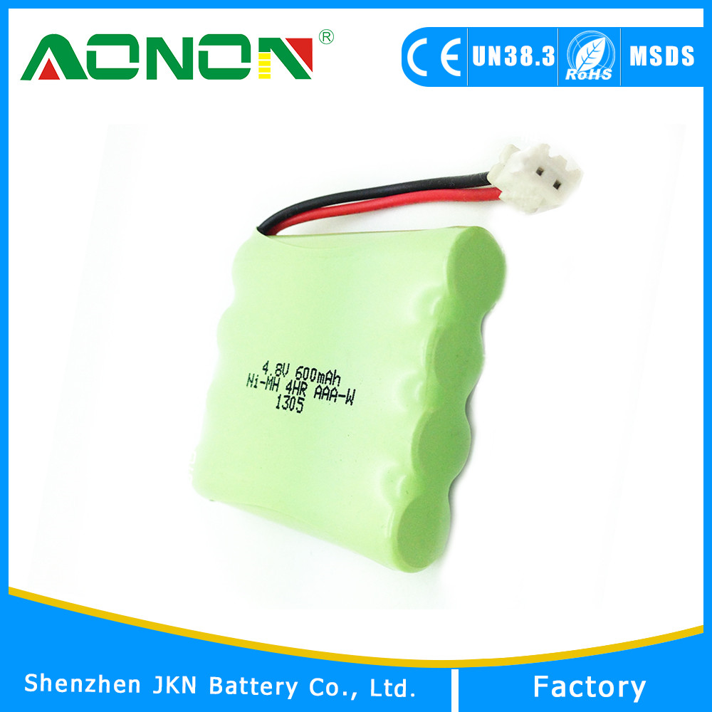 Cordless phone bateria aaa 600mah 4.8v ni-mh battery pack
