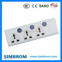 Best Selling Products 6 Way British Extension Socket With Individual Switch Surge Protector