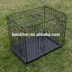 Folding metal wire dog cage with double doors