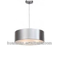 Drum Shaped Matt Aluminum Pendant Lamp