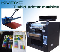 a3 size digital flatbed t shirt printer machine can print any color textile materials