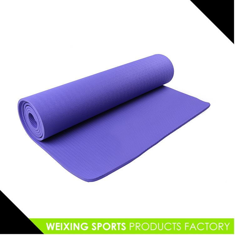 TOP SALE Attractive style eco-friendly flax pvc yoga mat directly sale