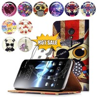 New Products wallet stand printed pu leather flip case for sony xperia ion lt28i