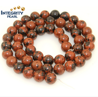Natural stone loose gemstone strand round 6 8 10 12mm Bronzite natural loose jade stone beads
