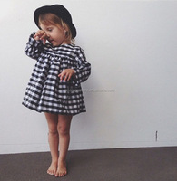 Kids Winter Classic Black White Plaid Baby Girl Tutu Dress