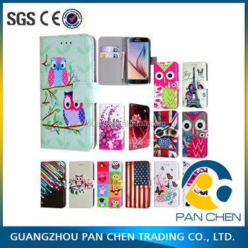 China manufacturer wholesale leather phone case,mobile phone leather case,For Samsung Galaxy S7 S7 Edge