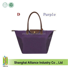 China Alibaba Nylon Folding Tote Shopping Bag /Purple Color