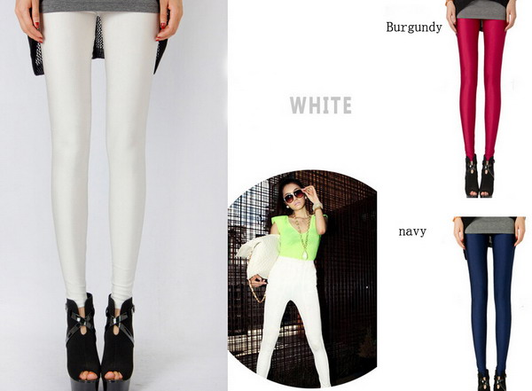 Fashion Female Pencil trousers Candy colored Stretch Leggings pants Elastic Cotton Skinny Jeans Pant