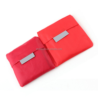 Square Pocket Reusable Folding Shopping Bag Fashion Travel Recycle Bag Colorful