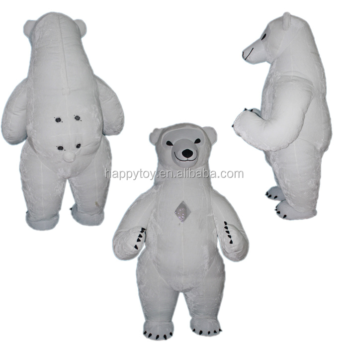 HI hot advertising animal mascot costume Promotion inflatable Polar bear custom