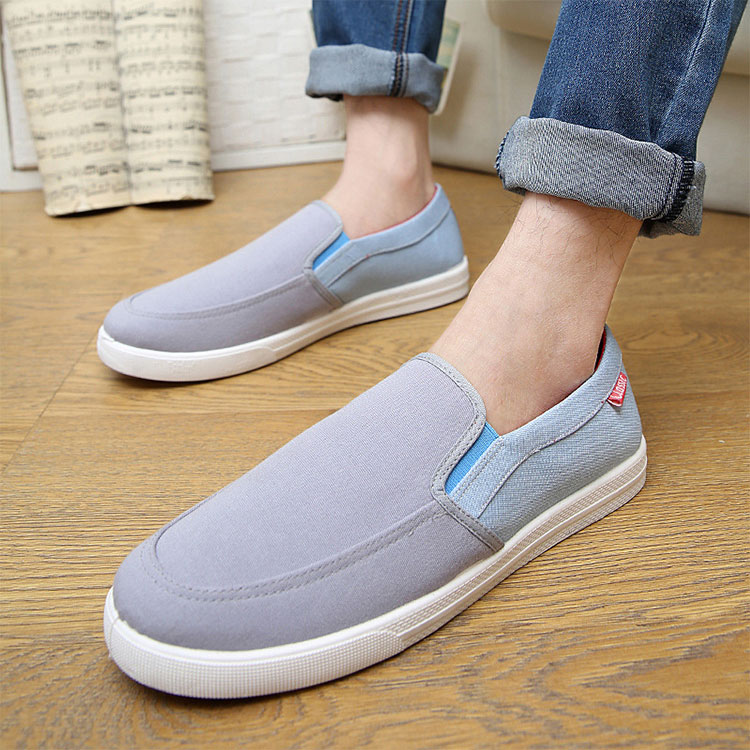 $1 dollar shoes 2017 Spring new style canvas slip on sport shoes running man