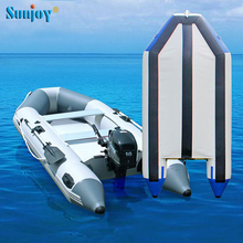 SUNJOY new comer pvc inflatable wooden floor motor boat inflatable jet boat