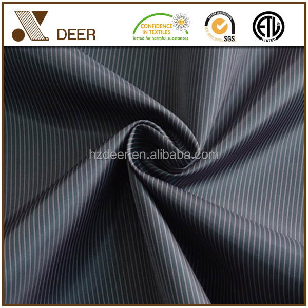 Hot Sales Black shirting stripes cloth lining fabric for suit