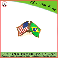 Custom high quality hot gift product Brazil and USA Lapel Pin