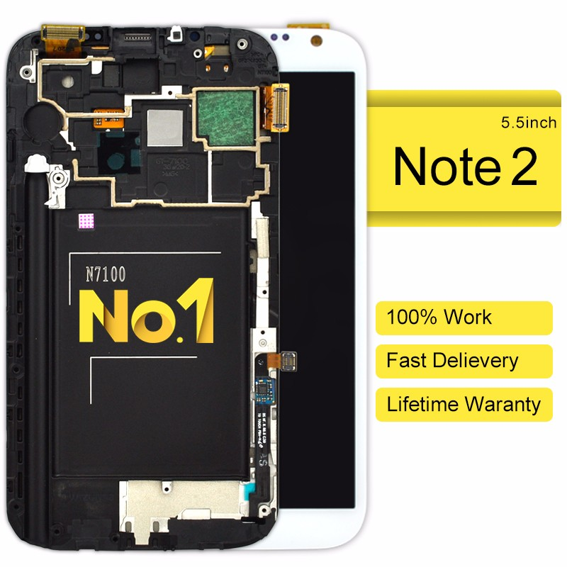 Alibaba in china lcd with digitizer for samsung note 2 n710(without frame)
