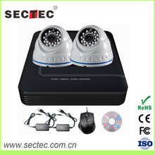 OEM China manufacture smart home system P2P Network Surveillance 2ch 720p nvr kit