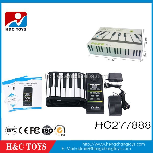 High quality products 88 keys hand roll piano,roll up piano,children toy piano HC277888