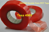 Alibaba Golden Supplier UI Certificated Acrylic adhesive double Sided polyester red liner adhesive tape TESA 4965