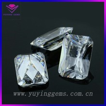 Raw Precious Gemstones White Baguette Cubic Zirconia Stone For Sale