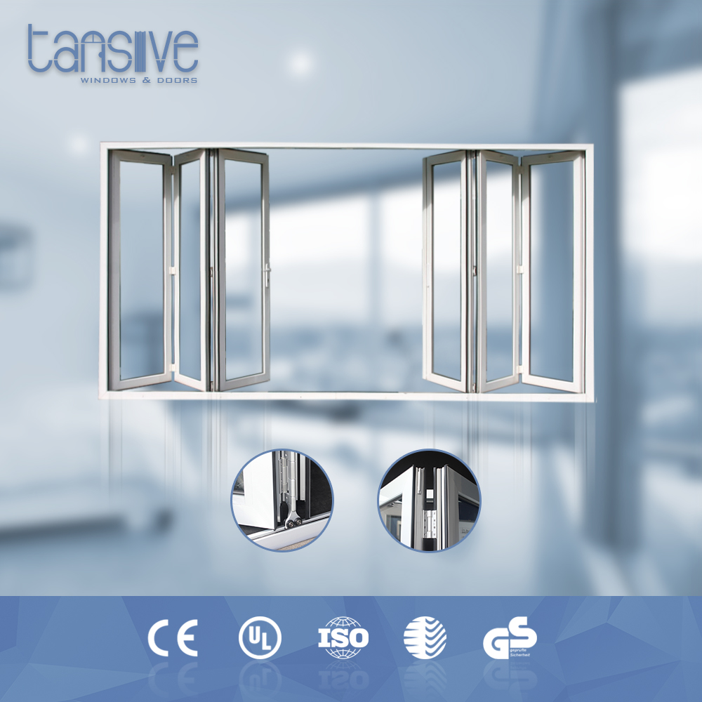 Double glazed aluminium accordion manufacturers shower folding doors