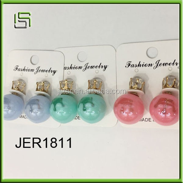 Wholesale small beads acrylic earrings