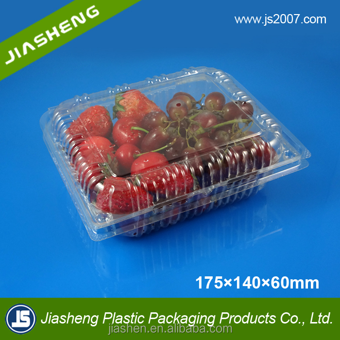 Disposable transparent plastic fruit packaging boxes food container