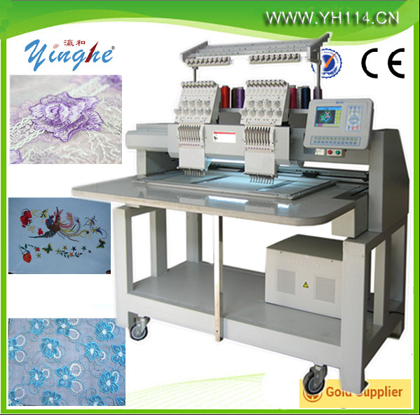 China Guangzhou CNC computer flat garment cap hat sequin towel single two 4 6 head 6 9 12 needles embroidery machine price