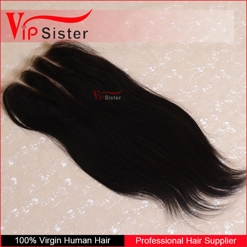 Cheap Virgin Brazilian Hair Closure Piece Free Parting 3 Way Part Full Lace Closures Can make Silk Base