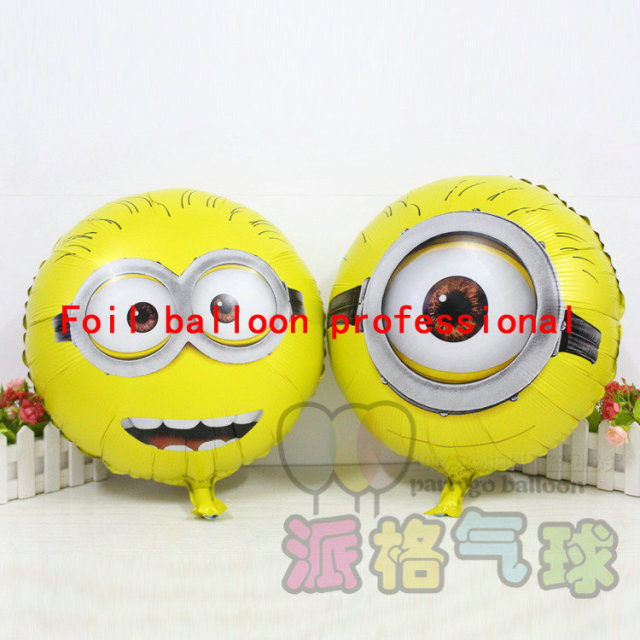10pcs/lot 45*45cm 45*45cm despicable me party minions balloons childrens party baloes decoration,ballon helium