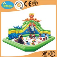 Low price best selling colorful planet inflatable water park