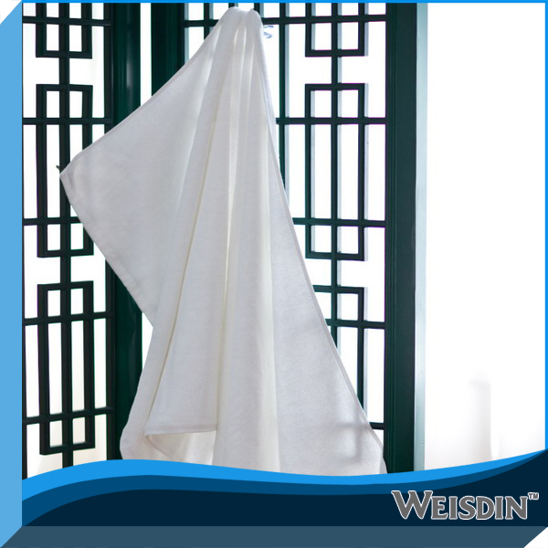 100% Ringspun Cotton White Color Bath Towel elastic towel