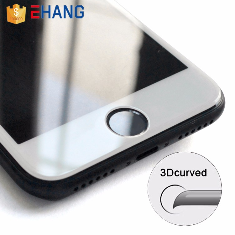 Cell phone accessory for iphone 6/7 plus 3d curved 9h tempered glass screen protector