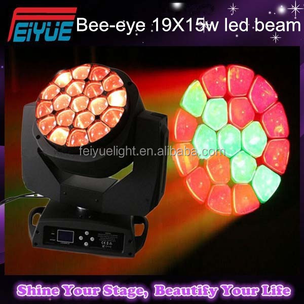 DJ Equipment 19pcs 12W RGBW 4in1 QUAD LED Angel Eye Moving Head/LED Bee Eye Stage Lighting,Wash/Beam/FX Effect