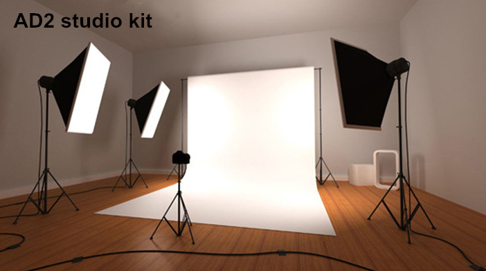mini photography photo studio flash lighting kit with backgrounds for photo studio