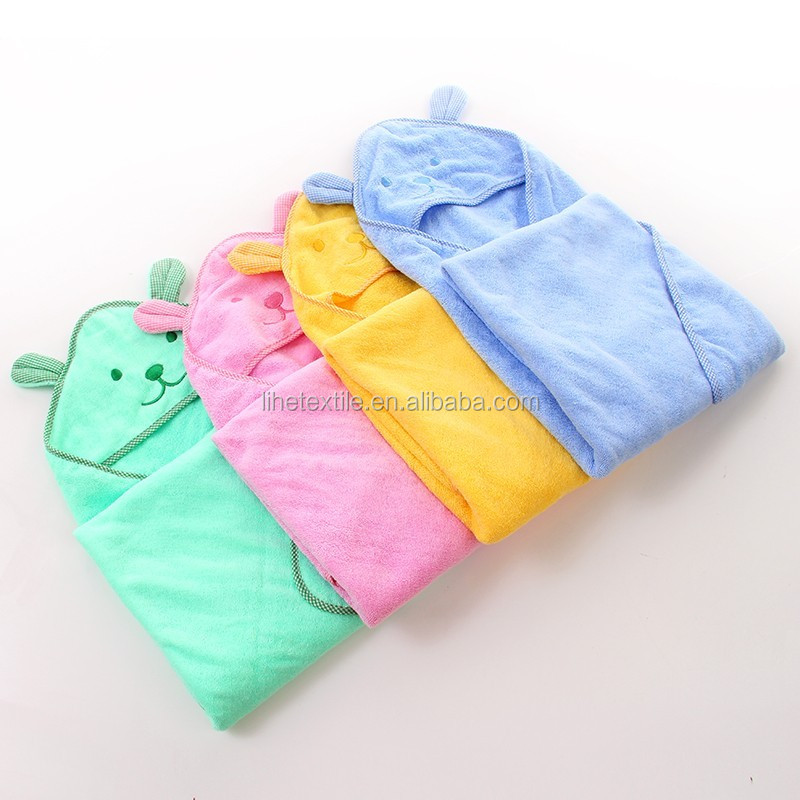 wholesale plain organic 100% cotton baby bath animal hooded baby towel