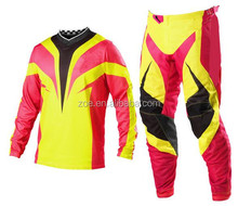 2017 Top sale customized sublimation print racing Motocross pants/wholesale high quality Motocross suits