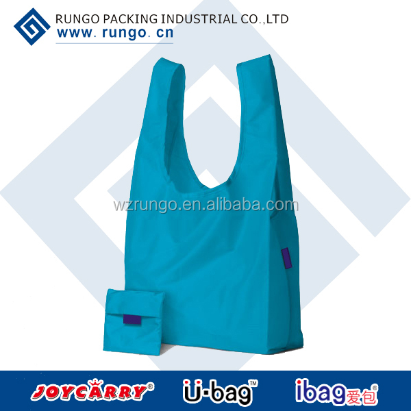 Recycled polyester fold up reusable bag
