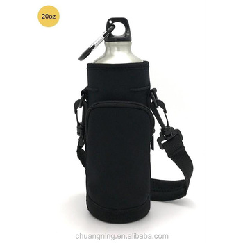 Water Bottle Carrier Bag Holder Sleeve With Adjustable Shoulder Strap And Porket Insulated Bottle Case Pouch Cover