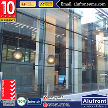 aluminium glass curtain wall aluminium sheet gladding stone cladding curtain wall for hotel