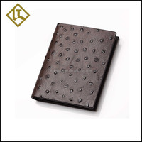 2015 Stylish brand ostrich wallet handmade leather wallet case