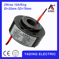 SRH 2578-2p Through bore slip ring ID25mm.78mm 2Wires, 10A x2wires 10A