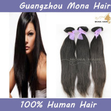 Hot selling 6a silky straight wave 100% raw unprocessed natural color brazilian human hair