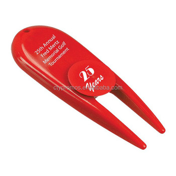 Plastic Bulk Golf Divot Repair Switchblade Tool / Divot Ball Marker