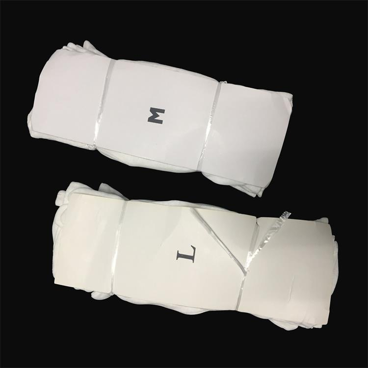 Soft and Comfortable White Cotton Glove for Electronics Assembly