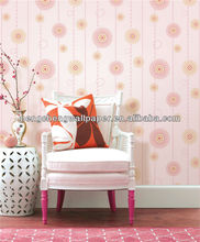 No Glue Self Adhesive Vinyl Wallpaper / Wallpaper Pink