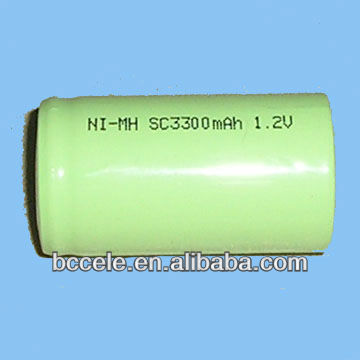 RC car rechargeable battery Nimh SC 1.2v 3300mah