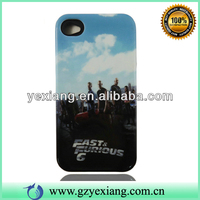 Fast&Furious 6 Cell Phone Printed Skin For Iphone 4/4s Custom Back Cover Case