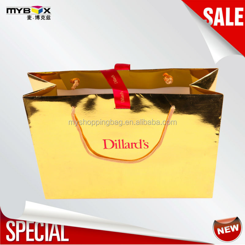 flashing fancy promotional printed new fancy custom shopping bag ivory card paper bag