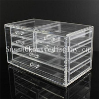 clear jewelry boxes lipstick bursh holder makeup drawer container cosmetic organizer acrylic